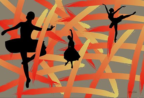 Silhuetas de Bailarinas