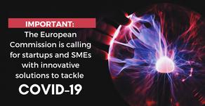 COVID-19: Inscrições abertas para startups e PMEs com soluções inovadoras de combate ao Covid-19.