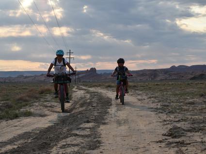 Layla's first Bike Pack Trip
