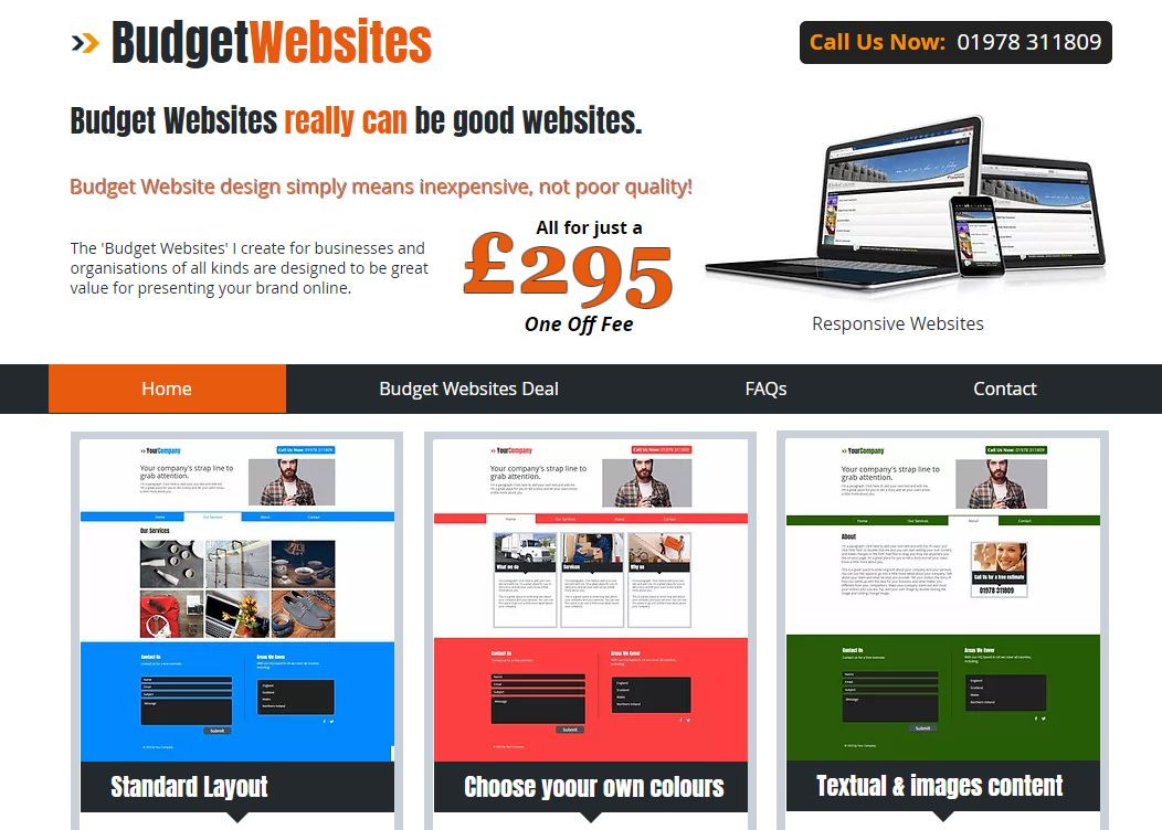 Budget Websites £295