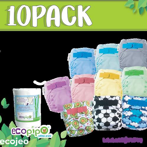 Pack 10 pañales