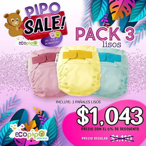 3 pack Lisos Pipo Sale