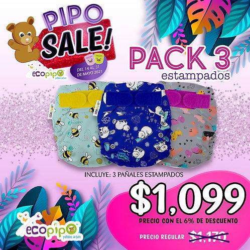 3 pack Estampados Descuento Pipo Sale