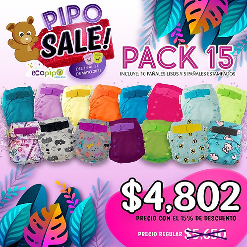 15 pack Pipo Sale