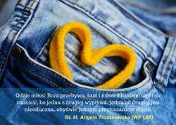 Gdzie miłość Bożą przebywa, tam i miłość