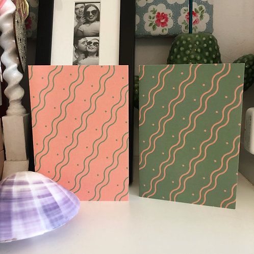 The Wiggle Stripe Cards Pack of 2