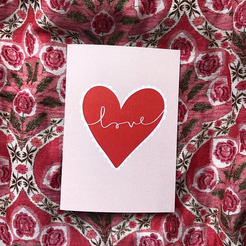 Scallop Heart Card
