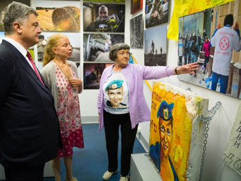 Exhibition: AZone. Berlin, Germany was visited by President of Ukraine Petro Poroshenko
