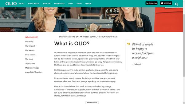 image taken from Olio website