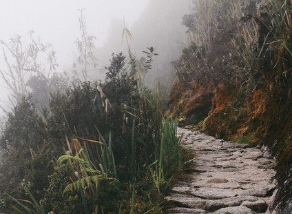 Crumbling path