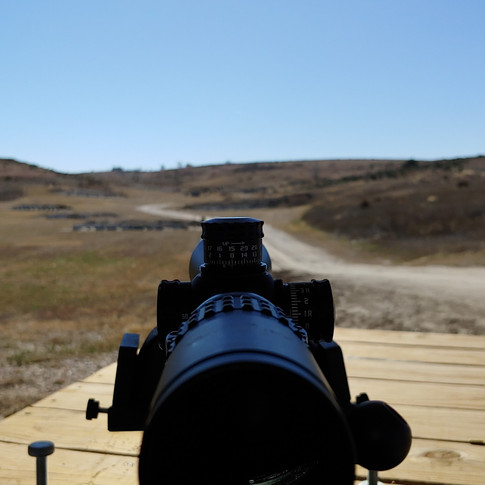 View from a shooting bench.