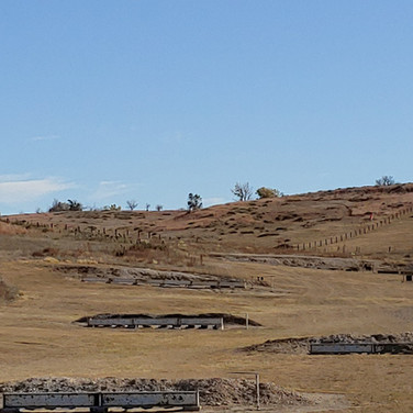 A look up the hill toward the 800m target.