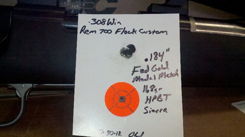 Rem 700 action, Hart barrel, Hogue stock, Burris scope. :-)