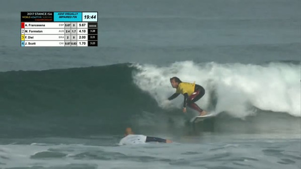 Wave surfed by Figue Diel, round of Final 2017 STANCE ISA World Adaptive