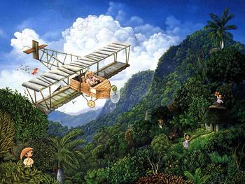 """CUADROS VIEJOS """"La Avioneta de Jaime"""""""