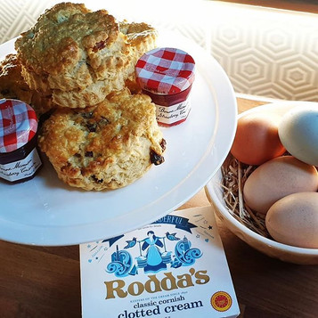 Fresh scones on arrival :)