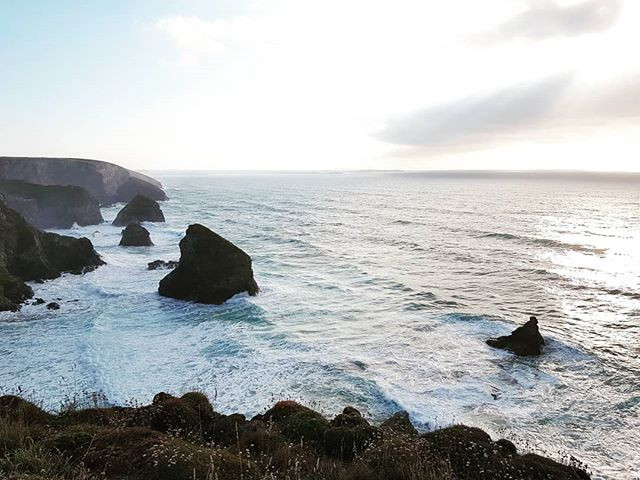 Stunning view over Bedruthan Steps