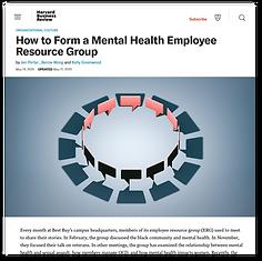 Graphic - How to Form a Mental Health Em