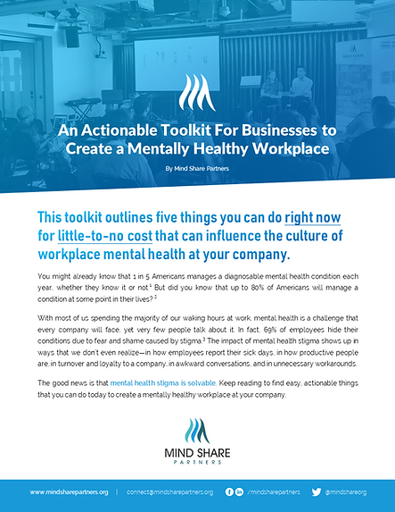 Workplace Mental Health 101 Downloadable