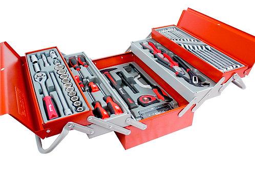 Set de 99 outils dans un coffre à 5 compartiments