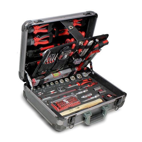 Coffre à outils avec 134 outils pour le professionnel