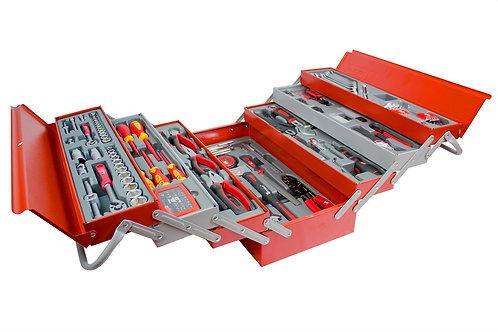 Set de 185 outils dans un coffre à 7 compartiments
