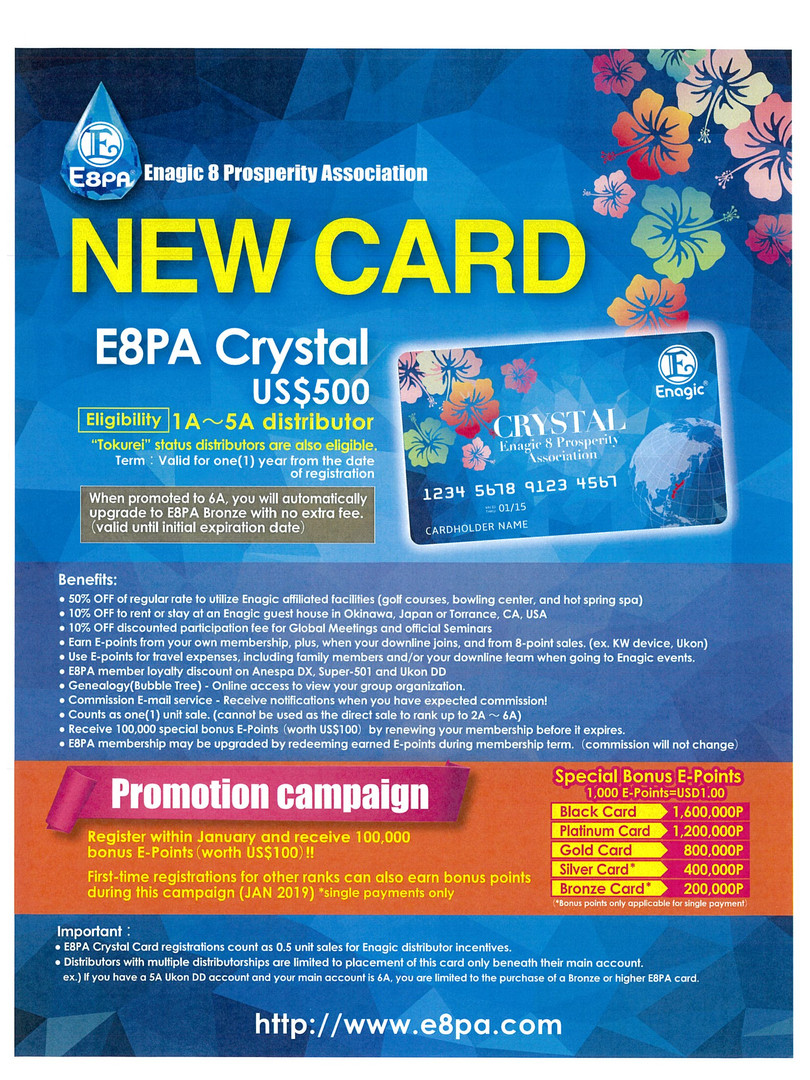 "New E8PA Membership ""Crystal Card"""
