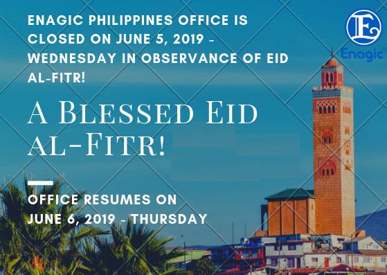 Enagic PH is closed on June 5, 2019 - Eid Al-Fitr