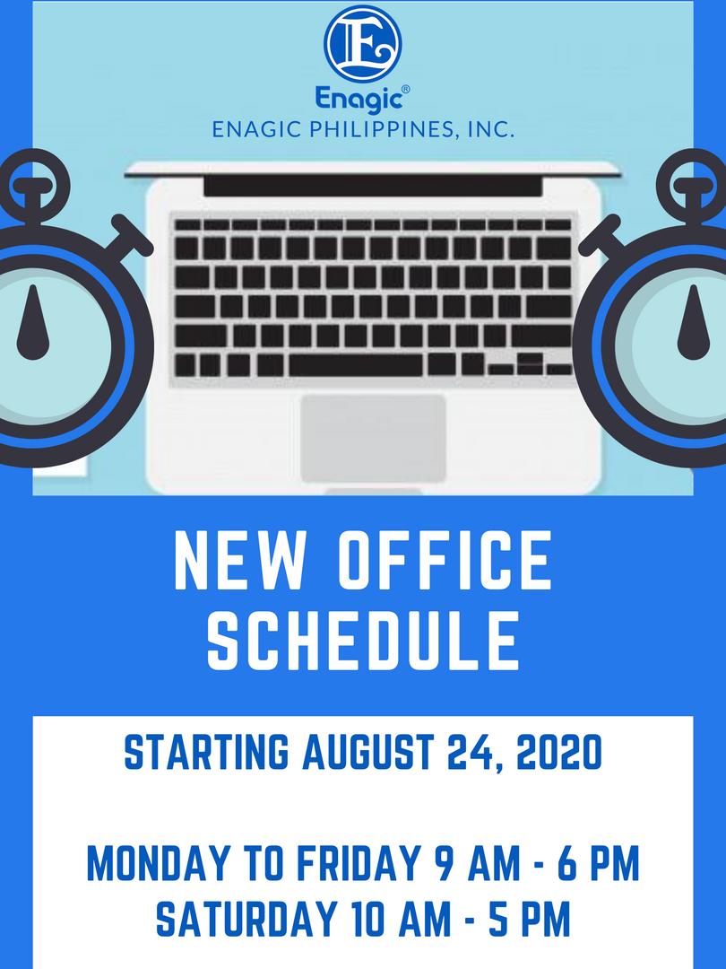 Enagic PH New Office Schedule