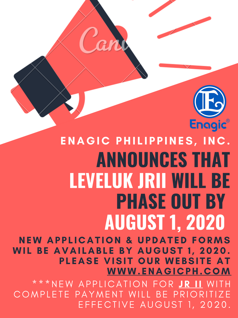 Leveluk JRII Phase-out Announcement