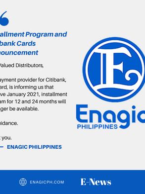 Installment Program and Citibank Cards Announcement