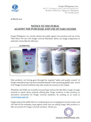 NOTICE TO THE PUBLIC - Warning