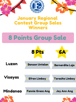 January 8 Points Group Sales Winner