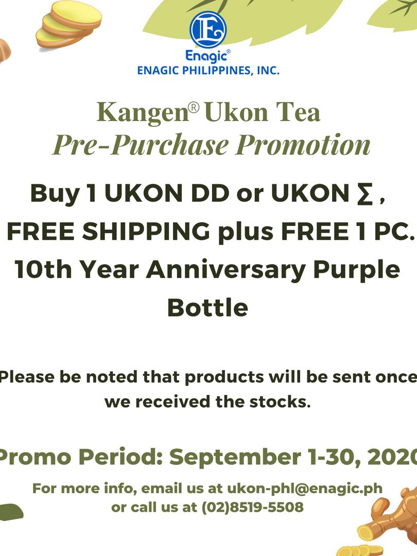 Kangen® Ukon Tea Pre-Purchase Promotion