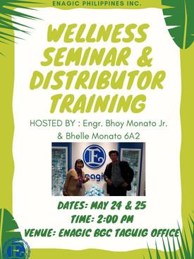 Wellness Seminar and Distributor Training