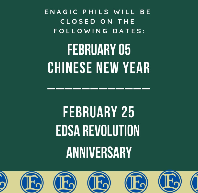 Enagic Philippines February 2019 Holiday Announcement
