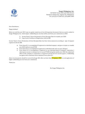 Reminder: Sworn Declaration Submission for 2020