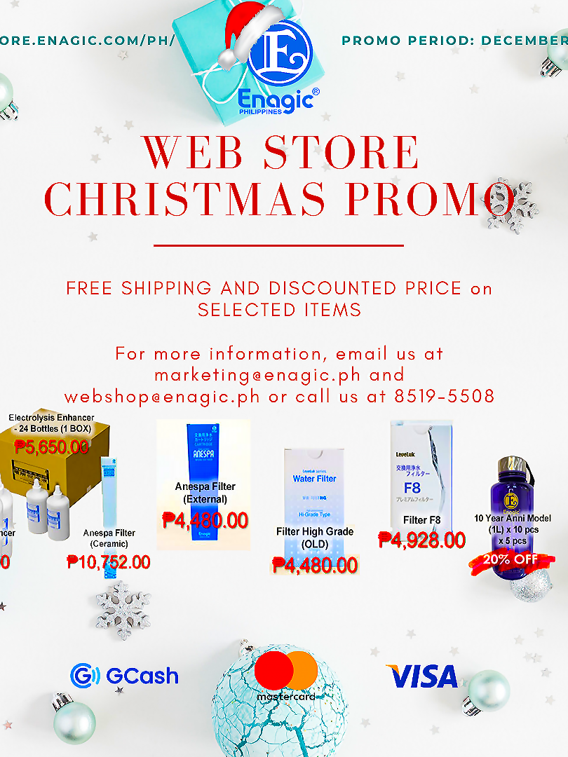 Enagic PH Web Store Christmas Promo