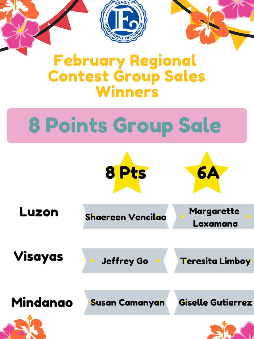 February 6A Group Sales Winner