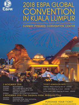 Enagic Malaysia presents 2018 E8PA Global Convention