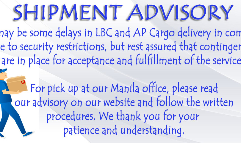 Enagic PH Shipment Advisory