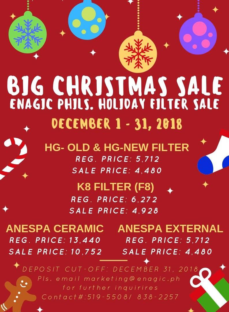 BIG CHRISTMAS SALE 2018