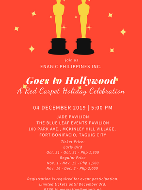 Enagic Philippines Goes to Hollywood  A Red Carpet Holiday Celebration