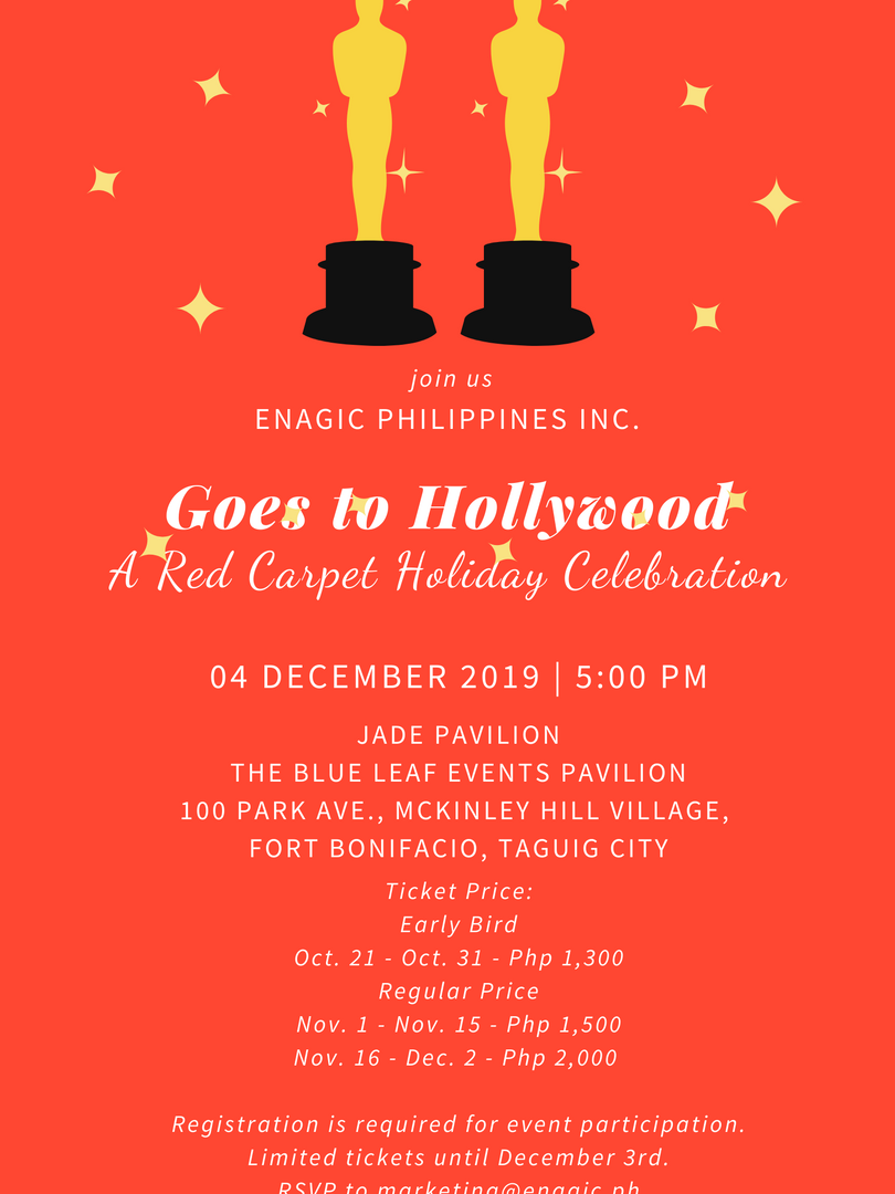 ​Enagic Philippines Goes to Hollywood   A Red Carpet Holiday Celebration