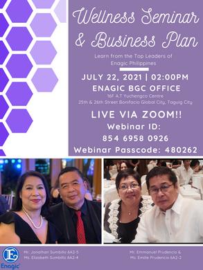 wellness Seminar and Business Plan