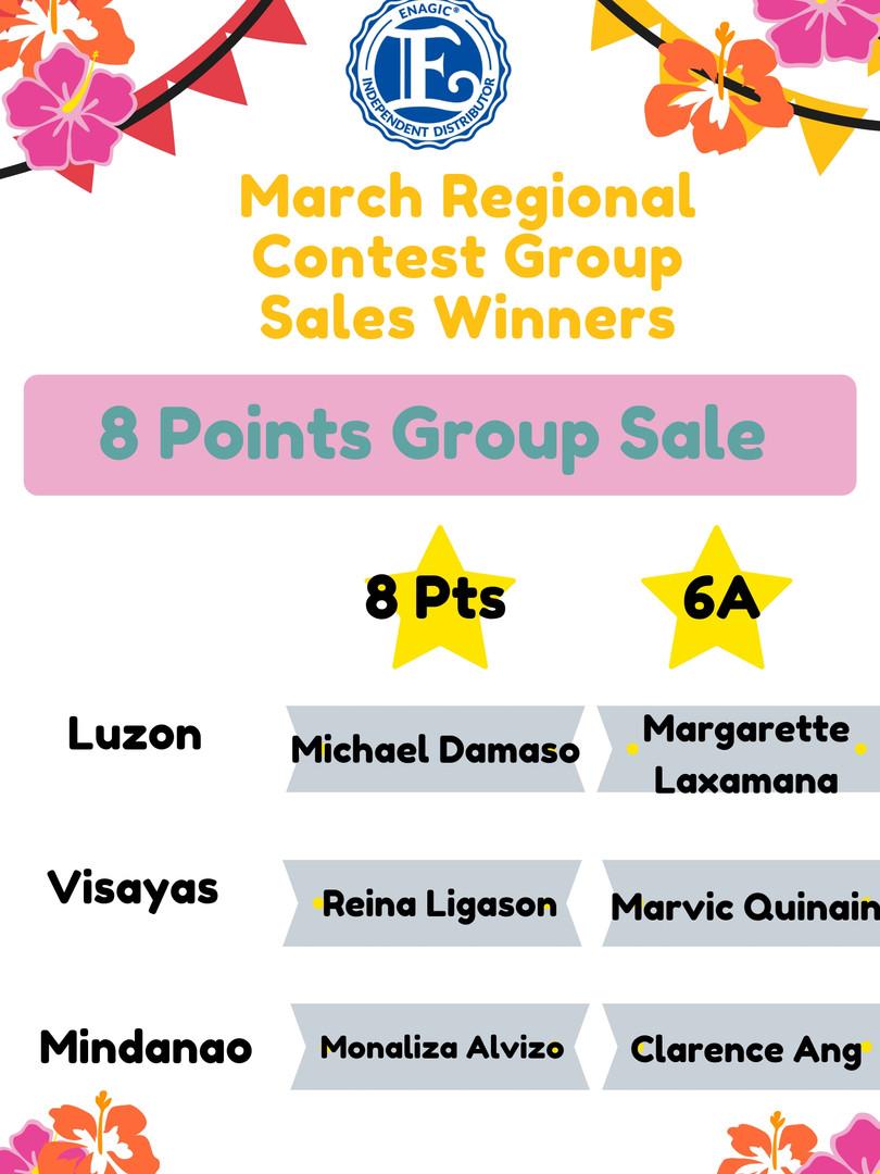 8 Points Group Sale Winner