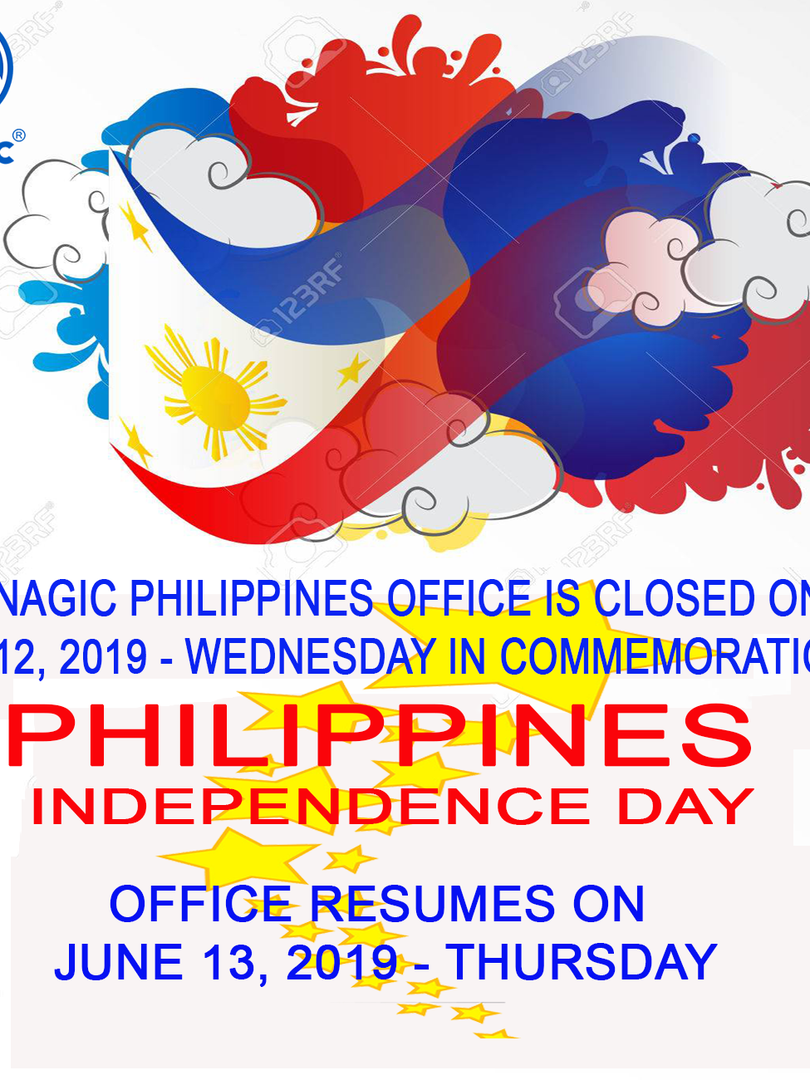 Enagic PH is closed on June 12, 2019 - Independence Day