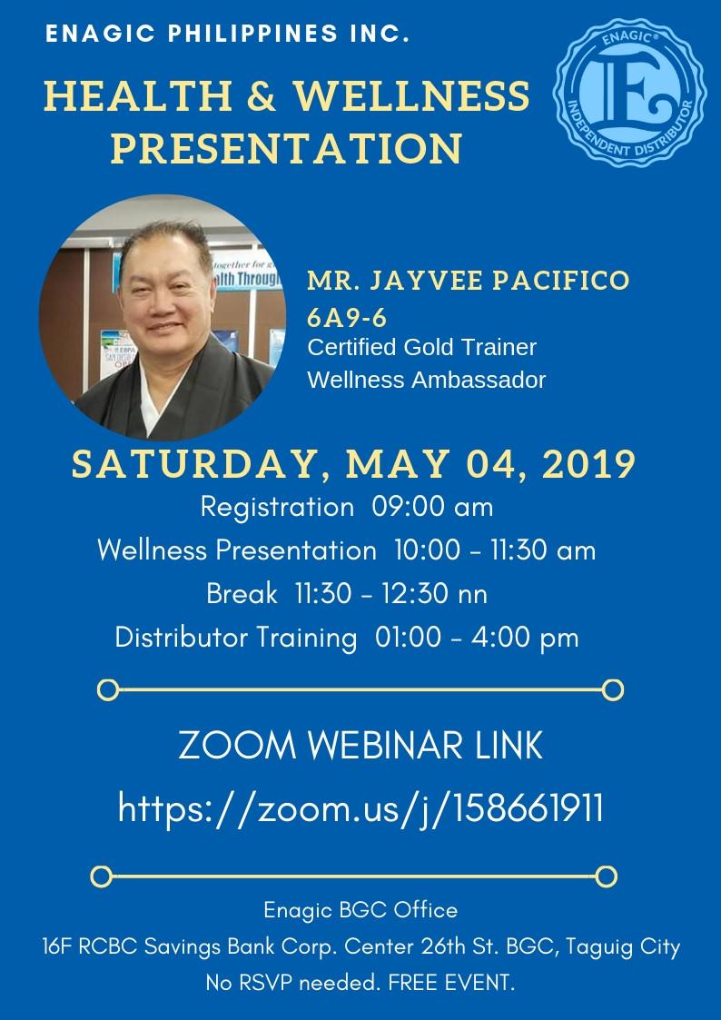 Enagic Philippines | Zoom Live Webinar