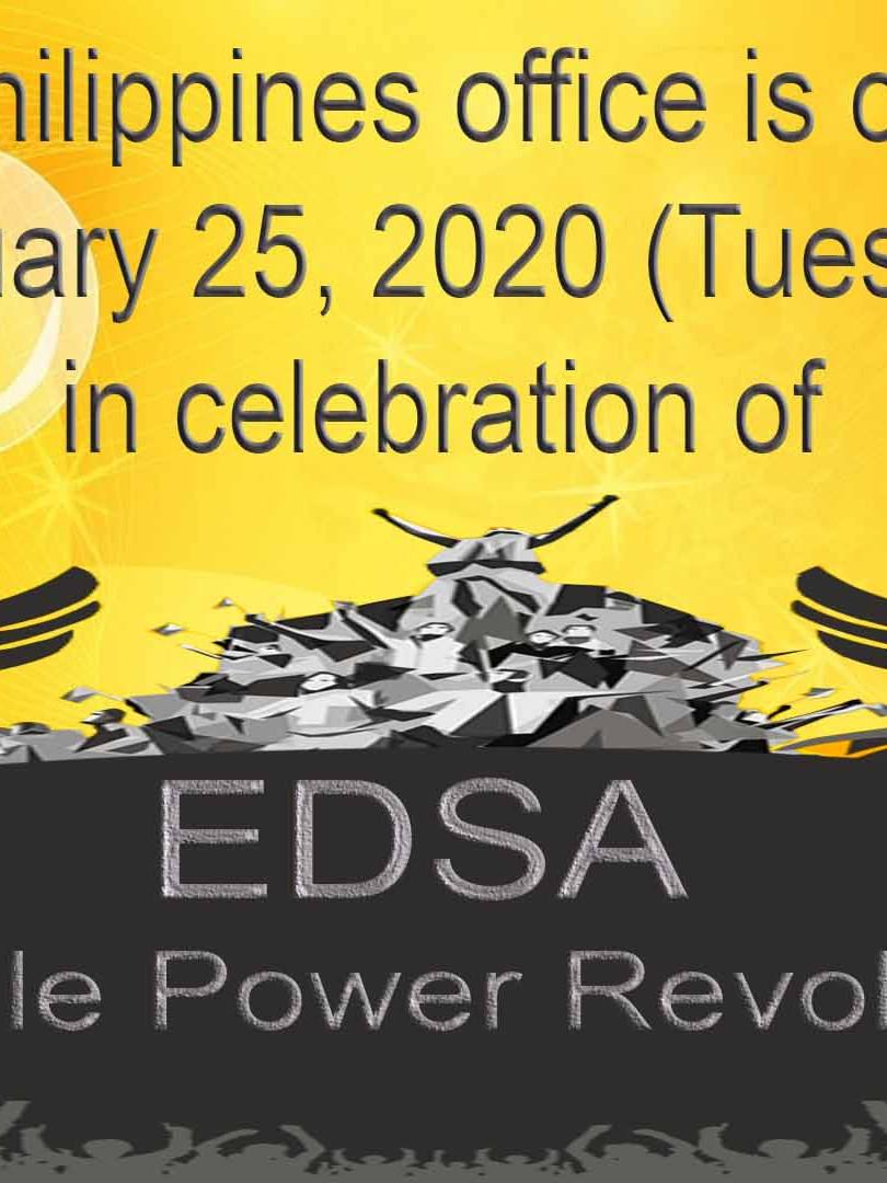 EDSA People Power Revolution Anniversary Holiday