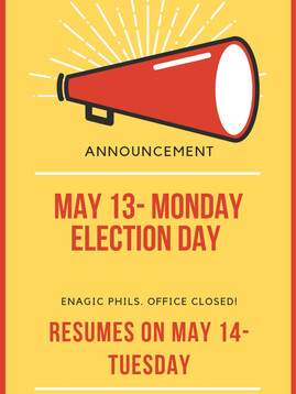 Enagic PH is closed on May 13, 2019 - Election Day